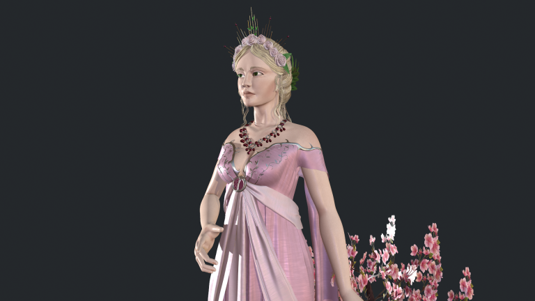MA Games artwork – Character render by Caitlin Niamh O'Connor. Showing a depiction of Persephone.